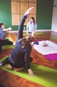 Postnatal Pilates class